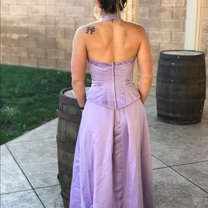Bridesmaid two piece dress